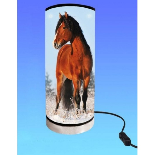 LAMPE TUBE CHEVAL PASSION
