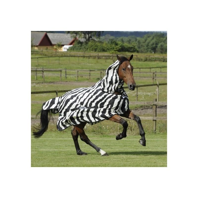 Chemise anti-mouches cheval avec couvre-cou Buzz-off Zebra Bucas