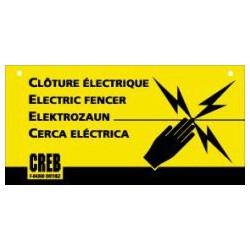 PANNEAU CLOTURE ELECTRIQUE  L'UNITE LGE