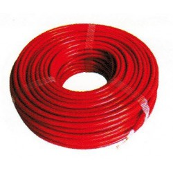 CABLE ROUGE ISOLE HAUTE TENSION  BOBINE DE 25 M LGE