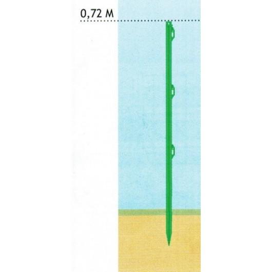PIQUET PLAST 72 cm LOT DE 5 POLYPRO+FIBRE LGE