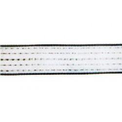 RUBAN 12 MM TOP RMD (inox + cuivre  ) 200M BLANC LGE