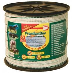 RUB/38MM PREMIUM  X 200M  (blanc liseret vert )