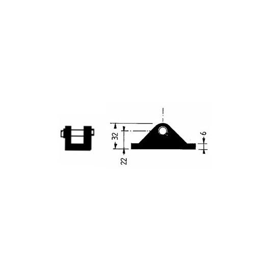 Support compas chape 8 mm