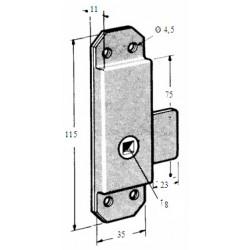 Loqueteau à plaquer 35 mm