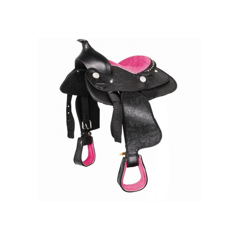 Selle western synthétique poney Think pink Waldhausen