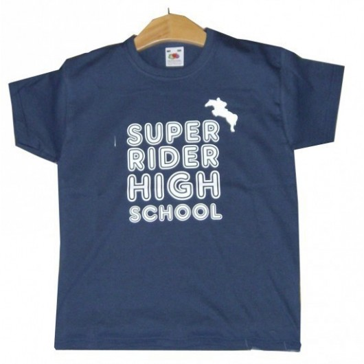 "T-SHIRT DROIT ENFANT ""HIGHT SCHOOL "" 100% coton BRIMAN"