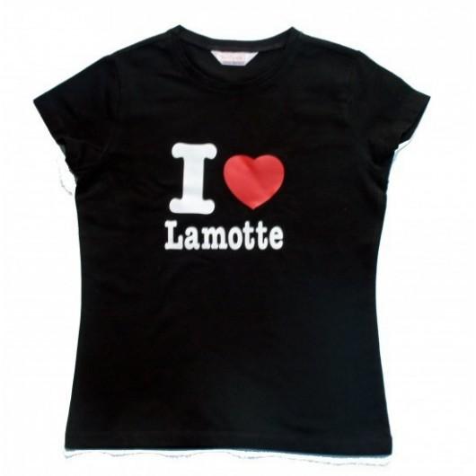 """T-SHIRT CINTRE ENFANT  """"I LOVE LA MOTTE """" coton/elastane BRIMAN"""