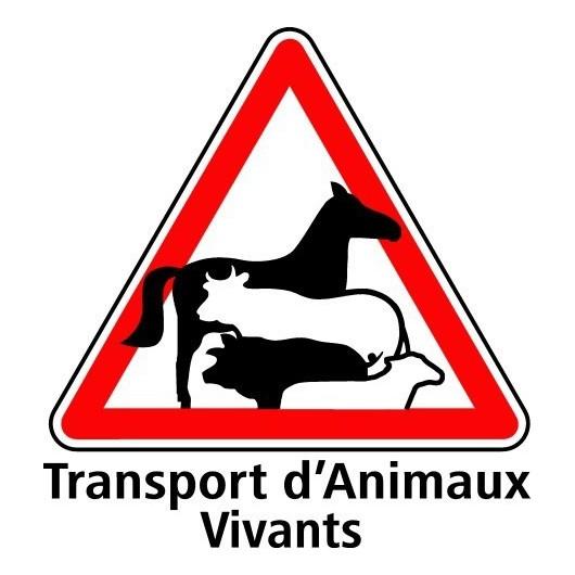 Plaque signalisation transport d 39 animaux vivants - Panneau de signalisation personnalise ...