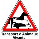 PLAQUETTE SIGNALISATION TRANSPORT ANIMAUX VIVANTS