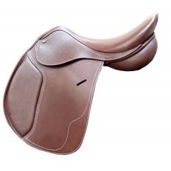Selle mixte dressage cuir Premium Cavalhorse