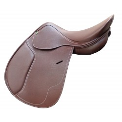 Selle mixte jumping cuir Premium Cavalhorse