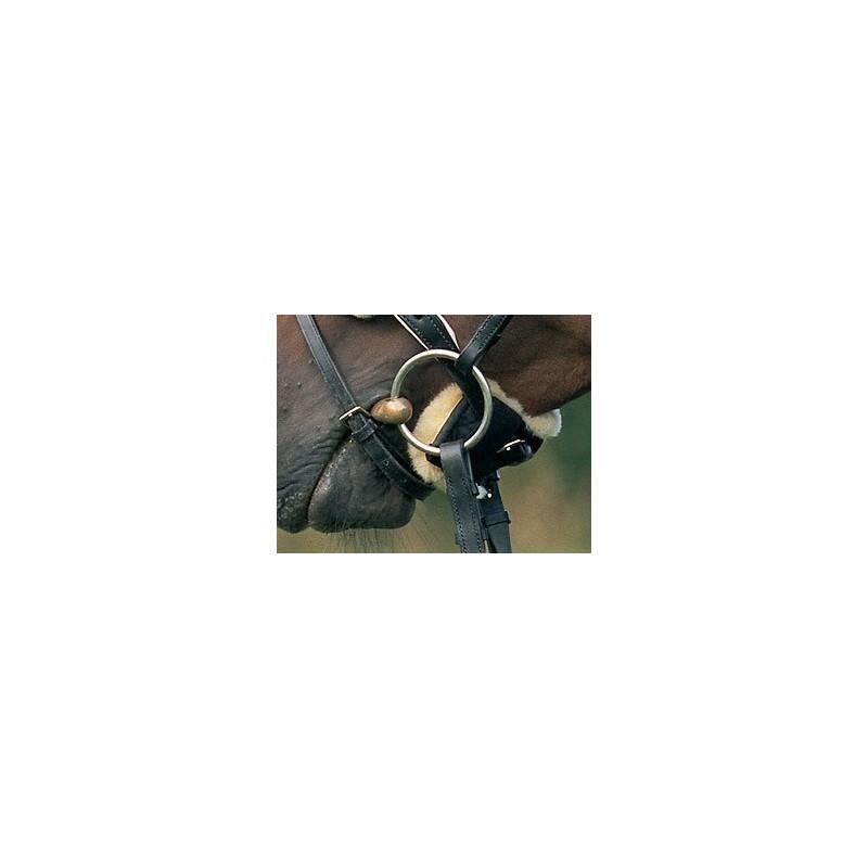 Licol et bridon Anthracite 32 cm Noire ou Brune. Peau de Mouton Naturelle CHRIST Housse pour lani/ère en Peau de Mouton Prot/ège-Cou pour Cheval en Fourrure v/éritable pour Bride Taille Unique