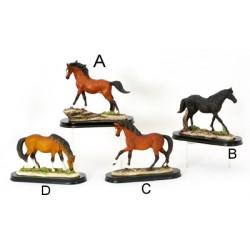 Statue résine cheval 16 cm