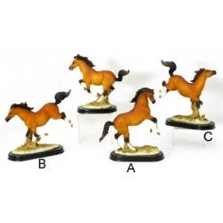 Statue résine cheval 22 cm