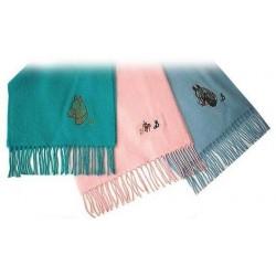 Echarpe en laine FUN motif equestre