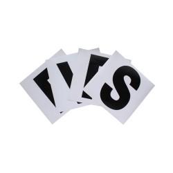4 Lettres de manège autocollantes