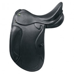 Selle Dressage cuir doublée veau Optimax Prestige Italia