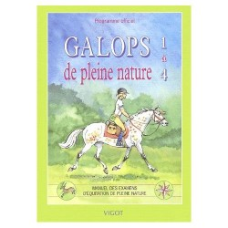 Galops de pleine nature 1 à 4 Programme officiel Editions Vigot