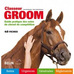 Classeur Groom, Guide pratique des soins du cheval de compétition L Vandekeybus A Lhérété-Bonneau Editions Belin