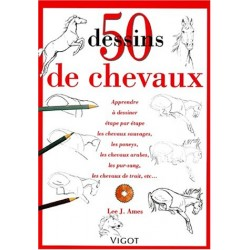 50 dessins de chevaux Lee J. Ames Editions Vigot