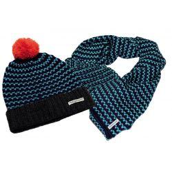 Bonnet et écharpe tour de cou bicolore Horseware