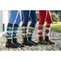 Chaussettes d'équitation à carreaux Covalliero