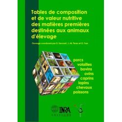 Tables de composition et de valeur nutritive des matières premières D.Sauvant, J-M. Perez, G. Tran Editions INRA