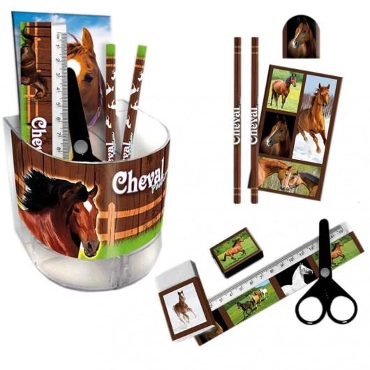 Pot à crayon garni Cheval Passion