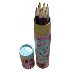 Tube de 10 crayons de couleurs Cheval passion