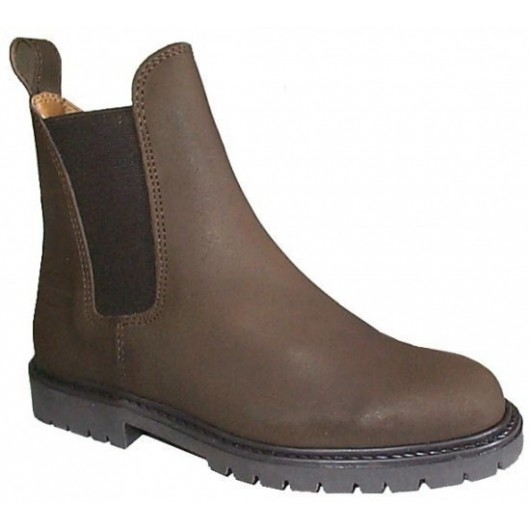 Boots équitation croûte de cuir graissée Balma