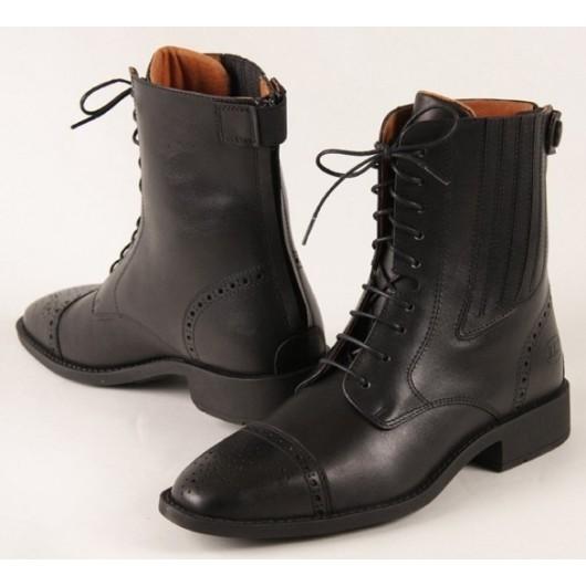 Boots équitation à lacets cuir lisse Monte Carlo ELT Paris