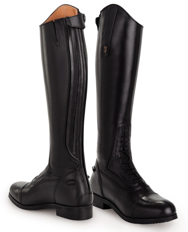 best sell hot sale classic style Bottes équitation demi-mesure cuir Donatello Junior