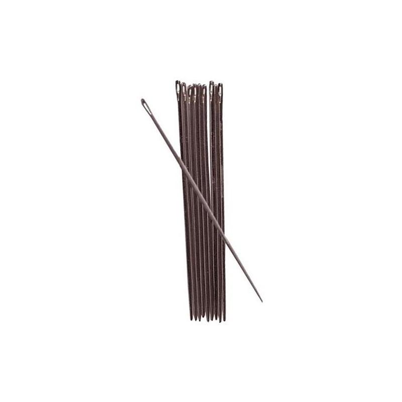 AIGUILLE POUR CUIR Taille 2/0 ( 70 mm fil/1.25 mm )  par unité