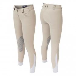 Pantalon équitation avec basanes Femme Solo Grip Tredstep