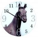Horloge ronde verre Cheval Passion