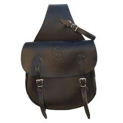 Double sacoche arrière randonnée cuir Marjoman