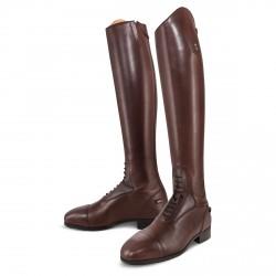 Bottes équitation cuir à lacets marron taille haute Donatello SQ Field Tredstep