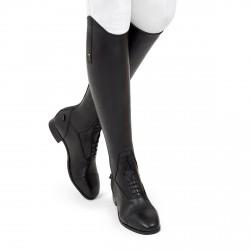Bottes équitation cuir à lacets noir taille haute Donatello SQ Field Tredstep