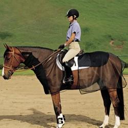 Filet et couvre-reins anti-mouches cheval Quiet Ride Cashel