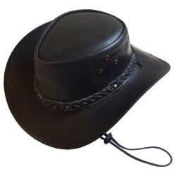 Chapeau australien cuir huilé Tabasca F.R.A