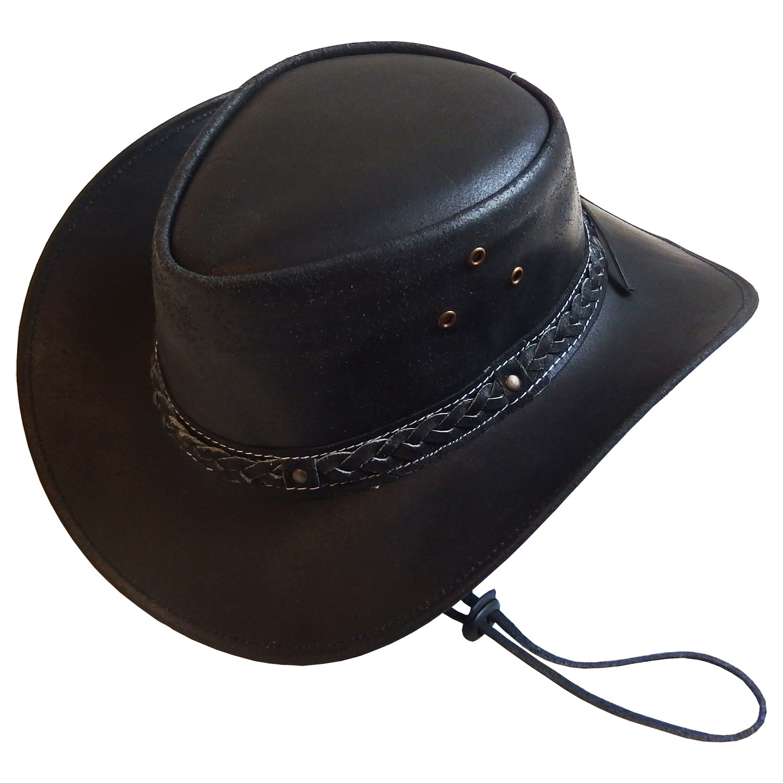 208191ae69272 Chapeau australien cuir huilé Tabasca