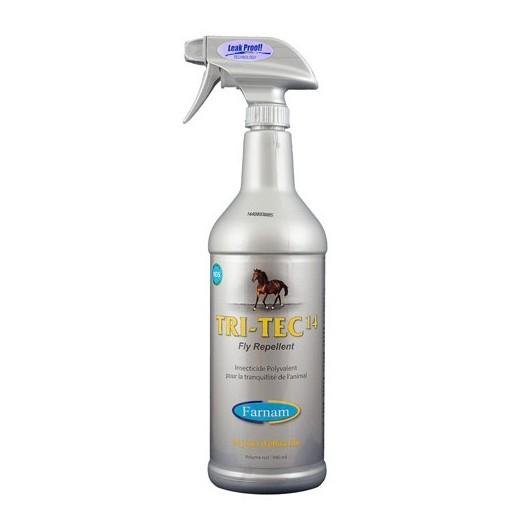 Spray répulsif insecticide 946 ml Tri-Tec 14 Farnam