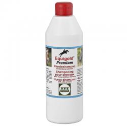 Shampoing cheval protéines de soie 500 ml Equigold Premium Stassek