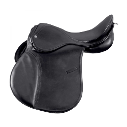 Selle mixte cuir Haflinger arçon large Star