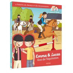 Emma et lucas font de l'équitation Clémence Masteau Éditions Auzou