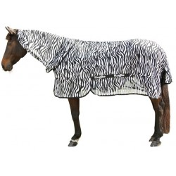 Chemise anti-mouches cheval avec couvre-cou Zebra Covalliero