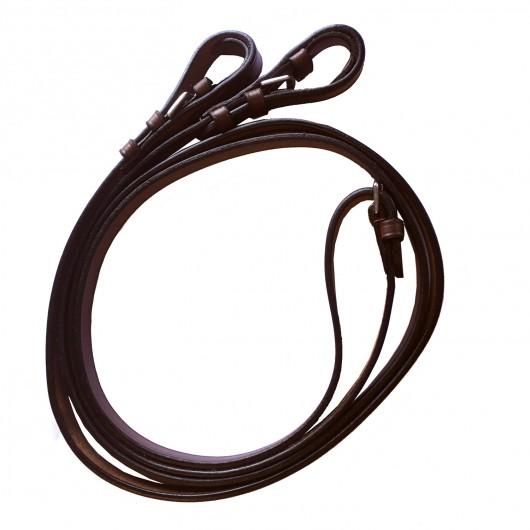 Rênes cuir lisse 15 mm