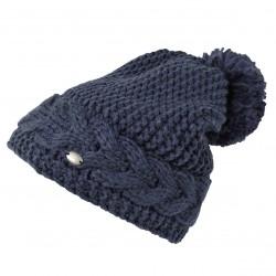 Bonnet laine pompon doublé Femme Pikeur