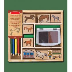 Kit tampons chevaux crayons Waldhausen